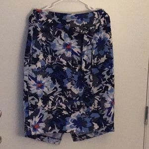 Lane Bryant floral skirt